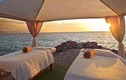 The Grand Venetian vacation rentals in Puerto Vallarta have beachside massage beds