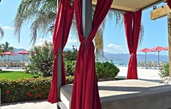 Private and comfy cabanas at the Grand Venetian condominium vacation rentals in Puerto Vallarta